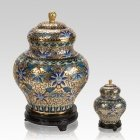Gold Copper Cloisonne Cremation Urns